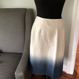 New with tags J Crew blue ombré linen skirt